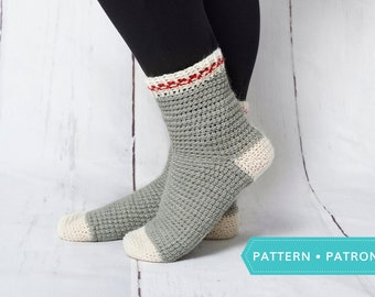 Saint-Laurent sock - PDF crochet pattern
