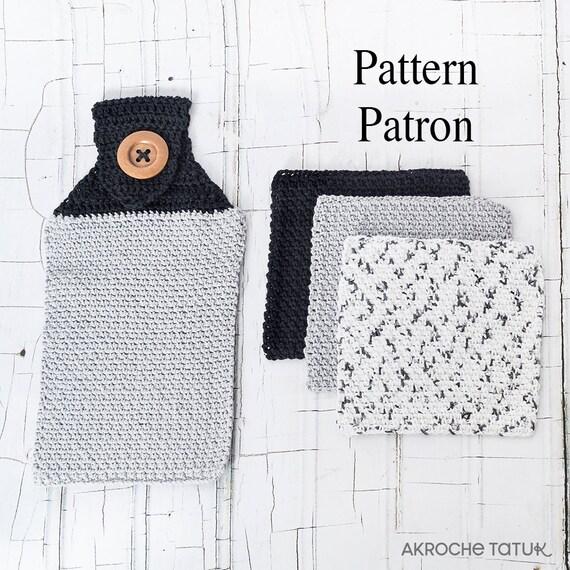 Dishcloth and handtowel . Crochet pattern by Akroche Tatuk