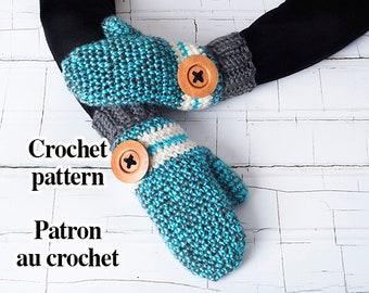 Mittens - PDF mittens crochet pattern 3 sizes
