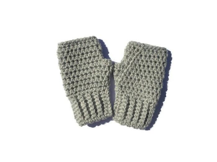 Guantes sin dedos para niños guantes de ganchillo guantes | Etsy