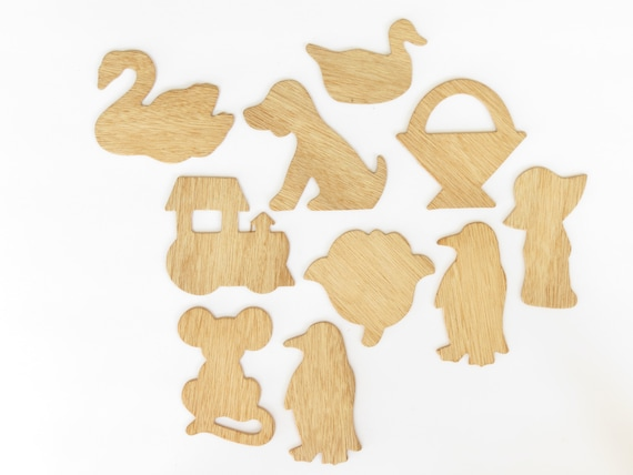 Animals and accessories Wooden cut out