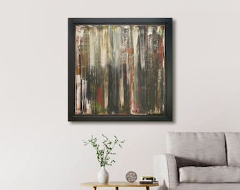 Abstract Artwork, Modern Abstract Oil Painting Fine Art 1 of a series framed abstract wall hanging decor, Uk Fine Art, Abstract Canvas Art