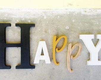 Lettere Di Legno Colorate : Scritta relax in legno di recupero e lettere colorate etsy