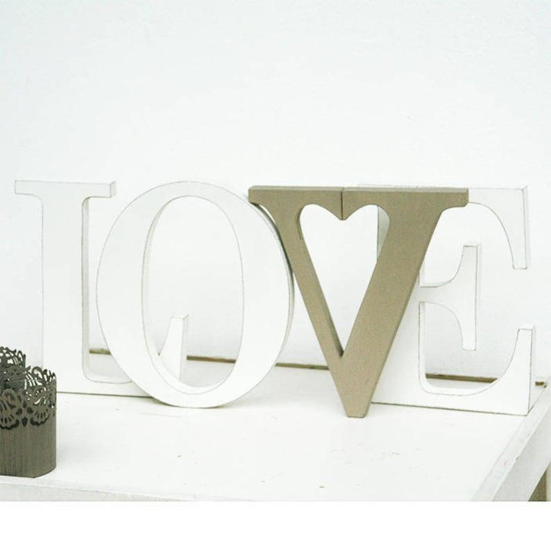 Scritta Love In Legno Stile Shabby Con Interno Della Lettera Etsy