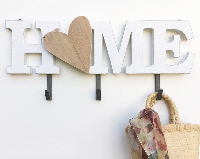 Appendiabiti scritta home unita in stile moderno con lettera etsy