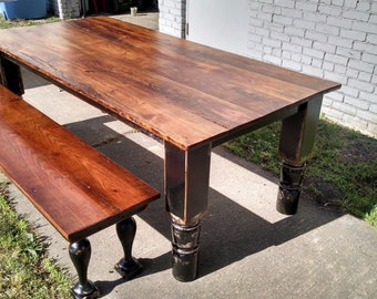 3df374866be9 FARM TABLE and BENCH cypress