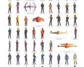 Star Trek - All Series - All crews - 24x36 Poster