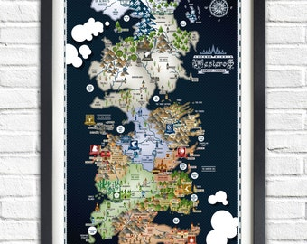 Westeros   Etsy on king sitting in throne room, king of wisconsin map, from gulliver's travels map, a clash of kings map, river run condominiums map, king s landing throne room, king of thorns map, king of towers map, dothraki on seven kingdoms map, kingdom clash of the kings map,
