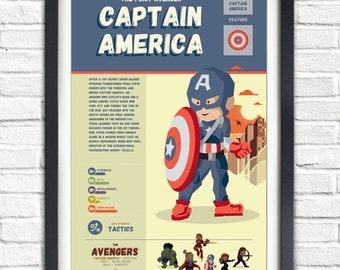 The Avengers - Captain America - 19x13 Poster