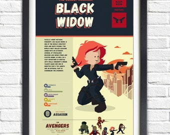 The Avengers - Black Widow - 19x13 Poster