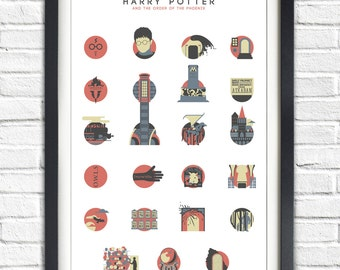 Harry Potter - 5 - The Order of the Phoenix - ALTERNATIVE VERSION - 19x13 Poster