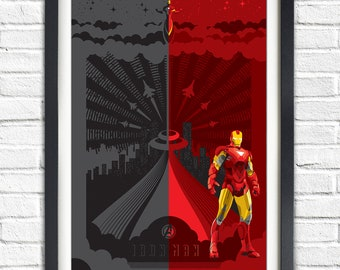 IRON MAN - The Avengers - 19x13 Poster
