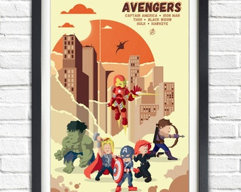 The Avengers - All the Team - 19x13 Poster
