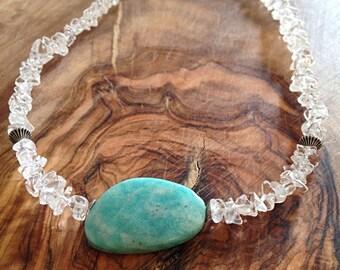 Eidothea. An Amazonite and Quartz Necklace