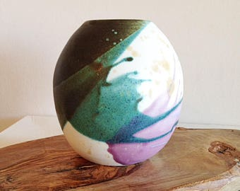 Beautiful Color Splash Studio Pottery Vase