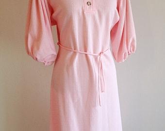 Vintage Pretty in Pink Shirt Dress