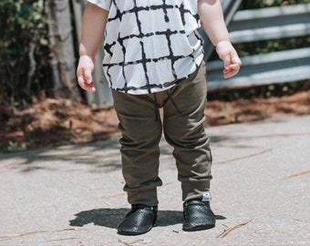 Basic Olive Drawstring Baby/Toddler Harem Pants