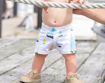 Sailboat, Swim Shorts, Baby Swimsuit, Baby Boy, Toddler Swimsuit, Swim Trunks, Baby Boy Clothes, Euro Shorts, Hipster Baby, Swimmies