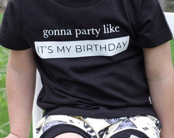 """Party Like its My Birthday"" Baby/ Toddler Graphic Tee"