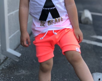Pink Coral Neon Harem Shorts
