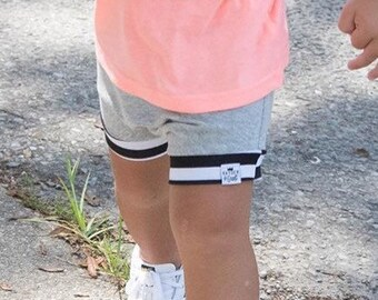 B & W Stripe + Grey Bummies/Shorties