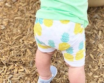 Pineapple Baby + Toddler Harem Shorts