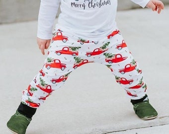 Vintage Christmas Truck Harem Pants