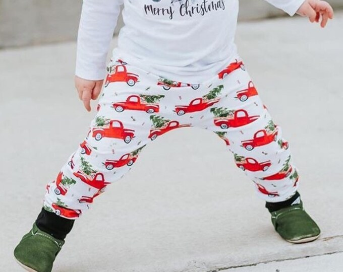 Featured listing image: Vintage Christmas Truck Harem Pants