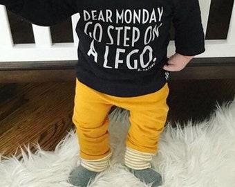 Mustard Baby + Toddler Harem Pants