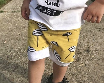 Beach Umbrella Harem Shorts