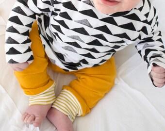 Mustard Stripe Baby + Toddler Leggings
