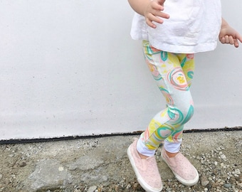 Pastel Floral Baby + Toddler Leggings