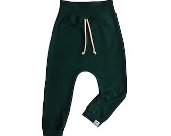 Basic Pine Drawstring Harem Pants