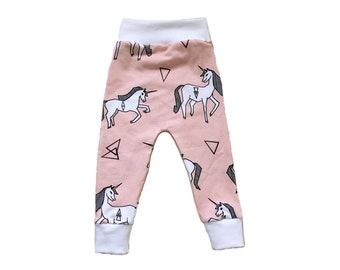 Pink Unicorn Baby + Toddler Leggings