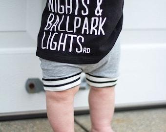 Hamptons Grey Baby + Toddler Harem Shorts