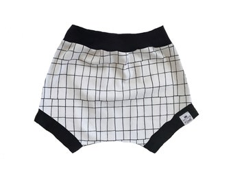 Monochrome Tech Grid Baby + Toddler Shorties