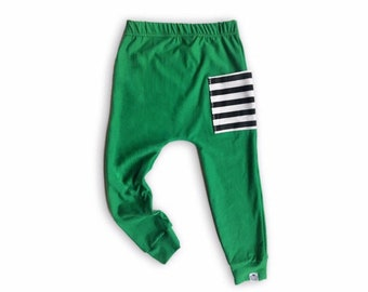 Emerald Sidecar Pocket Baby + Toddler Harem Pants
