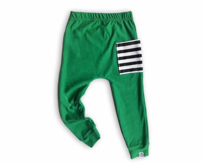 Featured listing image: Emerald Sidecar Pocket Baby + Toddler Harem Pants