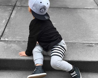 Grey Sidecar Pocket Baby + Toddler Harem Pants/ Leggings