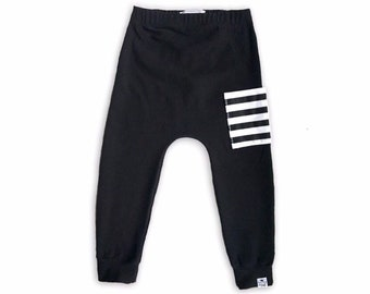 Black Sidecar Pocket Baby + Toddler Harem Pants