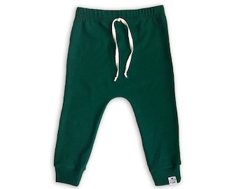 Basic Pine Drawstring Harem Pants