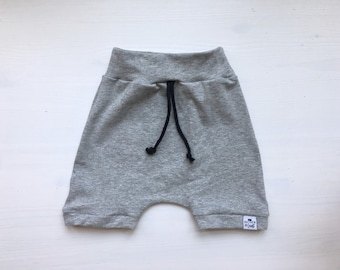 Baby Harem Shorts | Toddler Shorts | Baby Shorts | Baby Clothes, Baby Boy Clothes, Shorties | Hipster Baby | Grey Shorts | Grey Harem Shorts