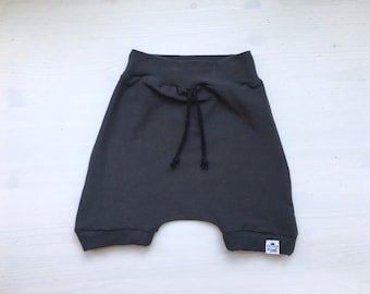 Baby Harem Shorts | Toddler Shorts | Baby Shorts | Baby Clothes, Baby Boy Clothes, Shorties | Hipster Baby | Carbon Harem Shorts