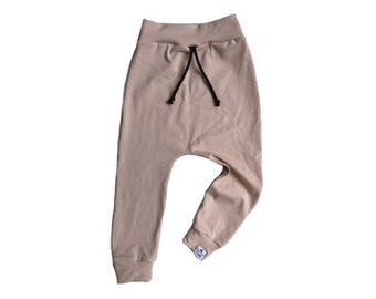 Basic Flax Drawstring Harem Pants