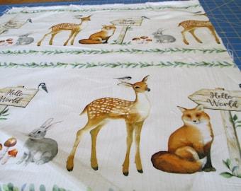 "Northcott Cotton Fabric Watch Me Grow Border Stripe 22"" wide x length of fabric"