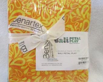Benartex Cotton Fabric Bali Petal Play Triple Died Batiks Fat Quarter Bundle 17 FQs