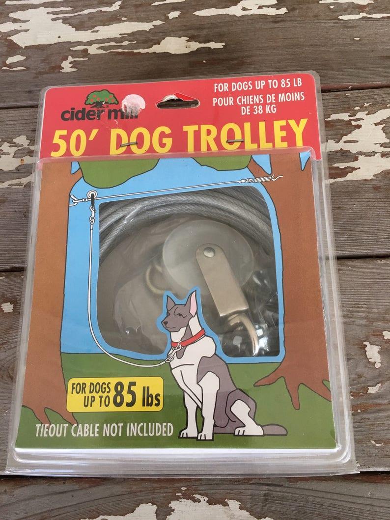 DOG LEASH-Dog Line,Cider Mill Dog Trolley,Dog Run,Long Dog Leash,Large Dog  Leash,Dog Cable,Dog Cable,Dog Tie,Outside Dog Line,Dogs,Dog House