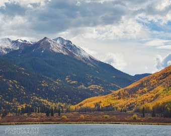 Mountain Lake - Colorado picture, landscape photography, fall print, mountain art, wall art, home decor, office decor, vertical, nature art