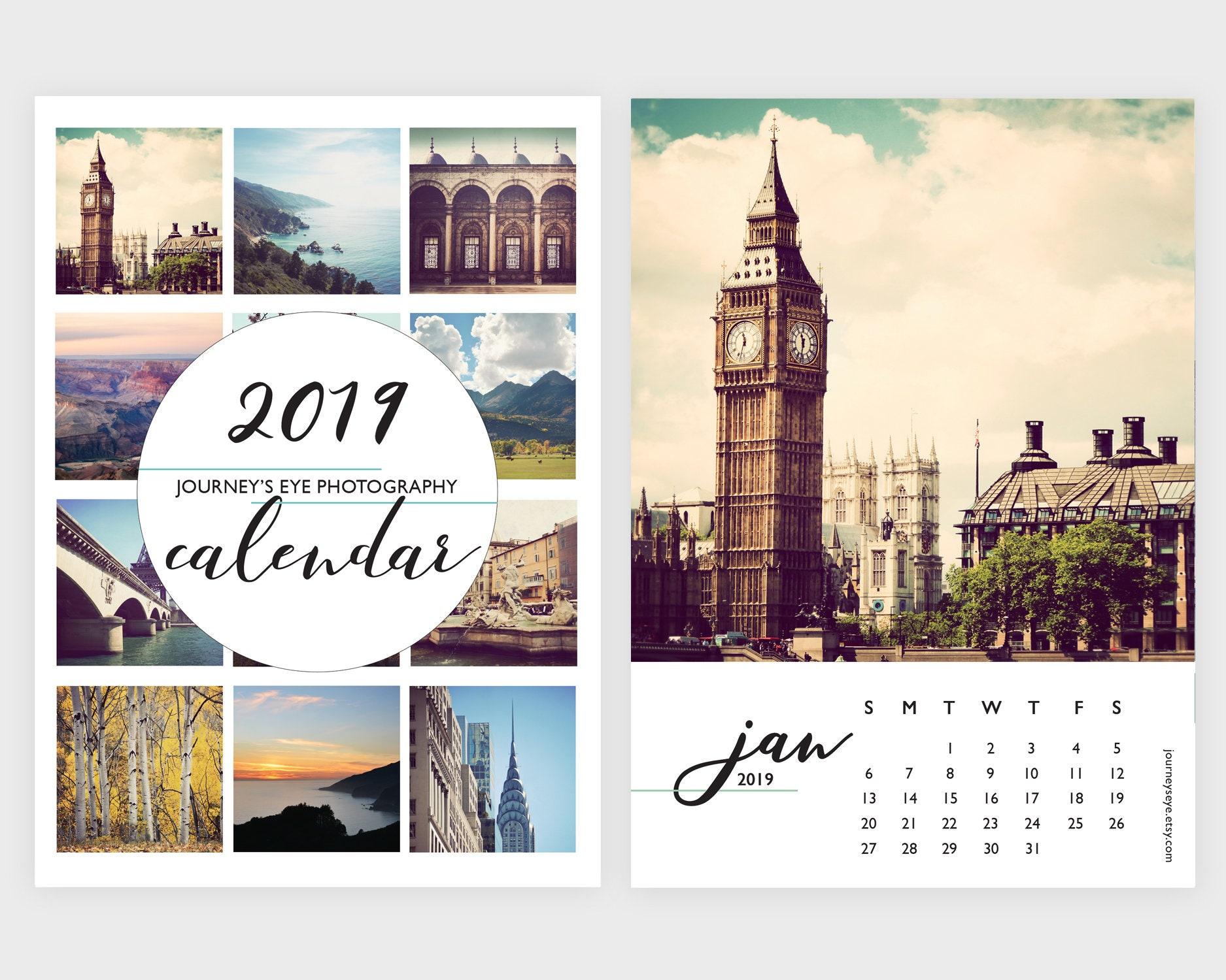 2019 kalender tischkalender foto kalender 5 x 7 kalender 4. Black Bedroom Furniture Sets. Home Design Ideas