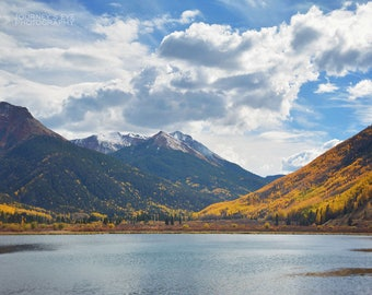 Landscape photography, Colorado photograph, mountain art, decor, wall art, nature print, fine art photography, horizontal - Mountain Lake